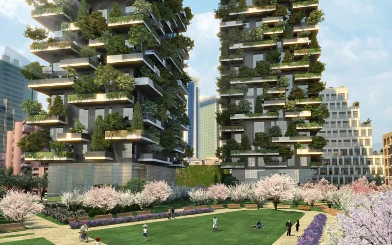 Боско, дизайн, технологии, лес, будущее, будівлі, технології, ліс, рослини, екологія