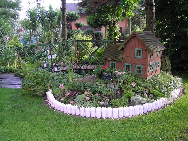 бутылки, забор, ограда, красота, дизай, декор, сад