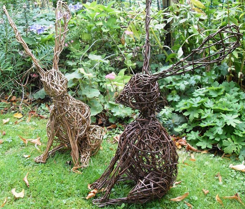 скульптури, сад, декор, дизайн, рослини, квіти, краса