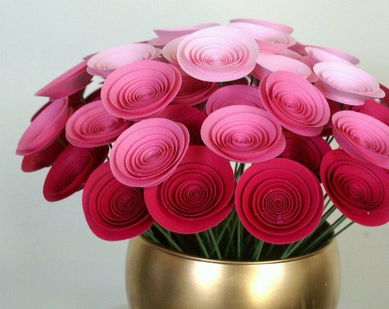 цветы, бумага, ткань, фантазия, декор, дом, сад, растения