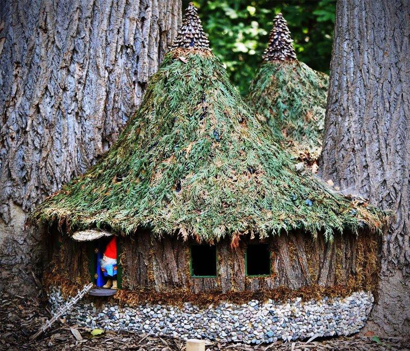 гномы, домик, сад, уход, растения, дизайн, декор